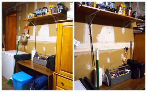 shelf and desk